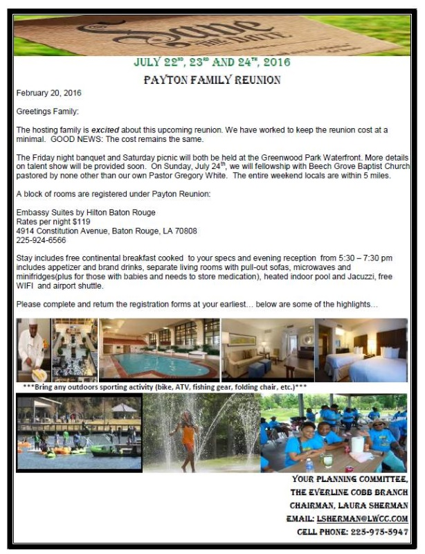 payton family reunion web template by a d consulting